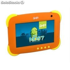 "Tablet Ghia Any Kids 7"" 47458 Quad/512MB/8 Gb/ 2CAM/ wifi/ Android 4.4-Naranja"