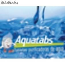 Tableta efervescente purificadora de agua Aquatabs