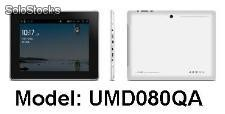 Tablets/mid umd android2.3 boxchip cortex-a8@1.2GHz 512m/4gb capacitivo webcam 8''