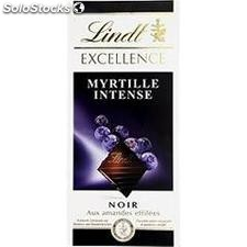Tablette 100G chocolat excellence noir amande/myrtille lindt