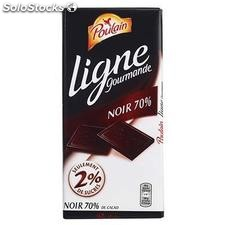 Tablette 100G chocolat noir light poulain