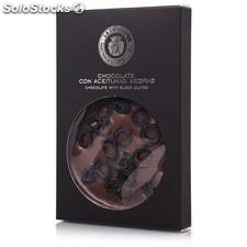 Tablette de chocolat aux olives noires