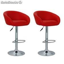 Tabouret design Lounge rouge (lot de 2)