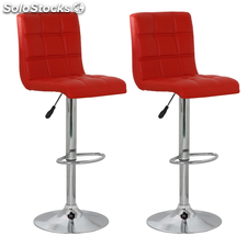 Tabouret design Racing rouge (lot de 2)