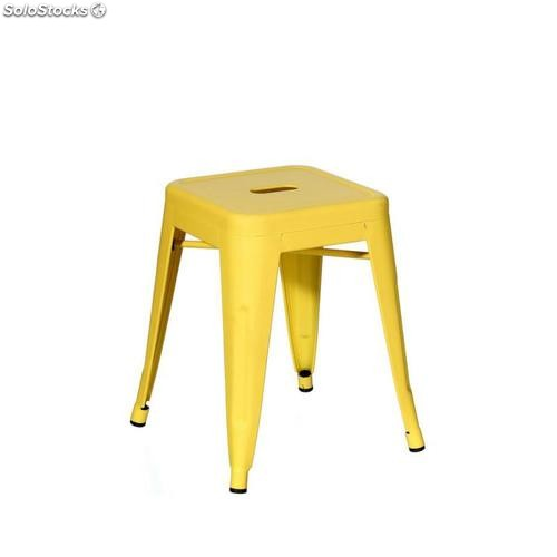 Taburete amarillo metal dallas 38,70x38,70x45cm