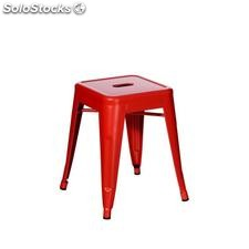 Taburete rojo metal dallas industrial 38,70x38,70x45cm