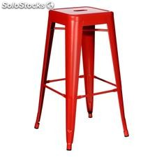 Taburete rojo metal dallas industrial 43,50x43,50x76,50cm