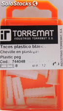Taco plastico blanco 6X22 mm blister