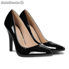 Tacones color negro, talla 37