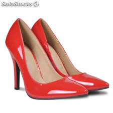 Tacones color rojo, talla 38
