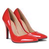 Tacones color rojo, talla 41