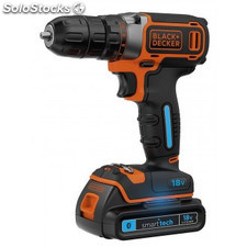 taladro atornillador smart tech 18v bdcdc18kst-qw black and decker