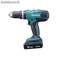Taladro bateria makita hp457dwe 18v litio-ion percutor
