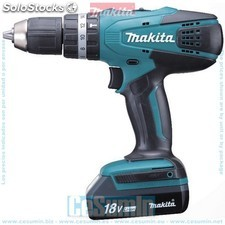 Taladro percutor 18v litio-ion 1.1 ah - makita - Ref: HP457DWE