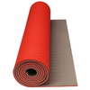 Tapis de yoga/fitness Avento orange fluo/beige