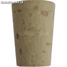 Tapon corcho botella b/500 conico 33X22X18