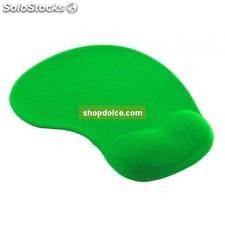 tappetino con gel per mouse verde 10414