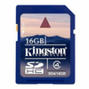 Tarjeta de memoria flash kingston sd hc 16gb clase 4