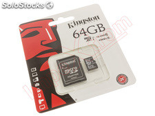 Tarjeta de memoria Kingston micro SD de 64 GB clase 10