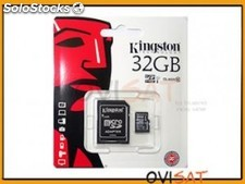 Tarjeta de memoria Kingston Micro SD Transflash clase 10 de 32GB en blister