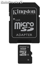 Tarjeta de Memoria kingston MicroSD 16GB con Adaptador