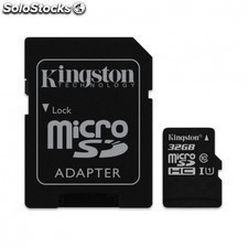 Tarjeta de memoria KINGSTON microsd - 32gb - clase 10 - adaptador sd -