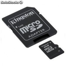 Tarjeta de memoria KINGSTON microsd 4gb + adaptador sd