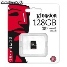 Tarjeta de memoria KINGSTON microsd xc 128gb - clase 10 - uhs-i - hasta 45mb/s
