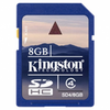 Tarjeta de memoria kingston sd hc 8gb clase 4