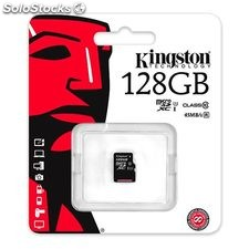 Tarjeta de memoria micro sd 128 GB kingston SDC10G2/128GBSP