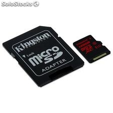 Tarjeta de memoria Micro sd 128GB Kingston CL10 uhs-i(U3)+adap.sd