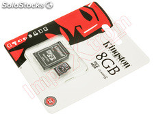 Tarjeta de memoria micro sdhc kingston 8GB class 4 (adaptador micro sdhc a sd