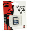 Tarjeta memoria 4GB kingston SD 4 GB original schc