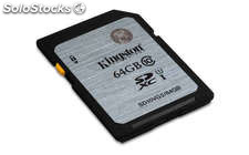 Tarjeta memoria 64GB Kingston Class 10 uhs-i sdxc