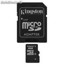 Tarjeta micro sd kingston SDC10/8GB micro sd hc clase 10 8 Gb