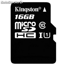 Tarjeta micro sd kingston SDC10G2/16GB 16GB clase 10