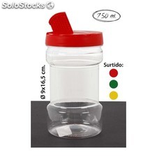 Tarro tapa triple especiero surtido colores, wat, 750ml.