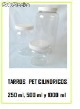 Tarros pet cilindricos 250ml, 500ml y 1000ml