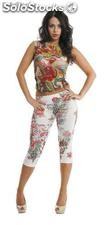 Tattoo skin unisex flower leggings