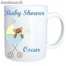 Taza baby shower azul