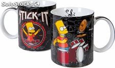 Taza bart simpson color negro