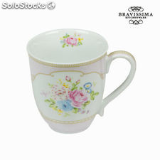 Taza bouquet rosa - Colección Kitchen's Deco by Bravissima Kitchen