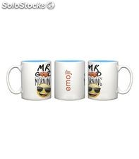 Taza ceramica blanca mr.good emoticonos finocam e1015h 910097