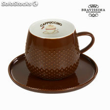 Taza coffee con plato chocolat - Colección Kitchen's Deco by Bravissima Kitchen