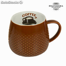 Taza coffee marrón - Colección Kitchen's Deco by Bravissima Kitchen