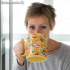 Taza Collage Emoticonos XL Gadget and Gifts