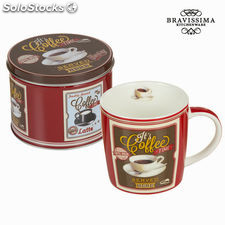 Taza con caja coffee - Colección Kitchen's Deco by Bravissima Kitchen