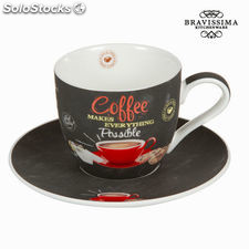 Taza con plato possible - Colección Kitchen's Deco by Bravissima Kitchen