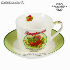 Taza con plato y caja fruits - Colección Kitchen's Deco by Bravissima Kitchen