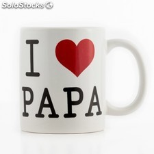 Taza corazon I love Papa